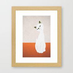 cat doll Framed Art Print by SEVENTRAPS | Society6