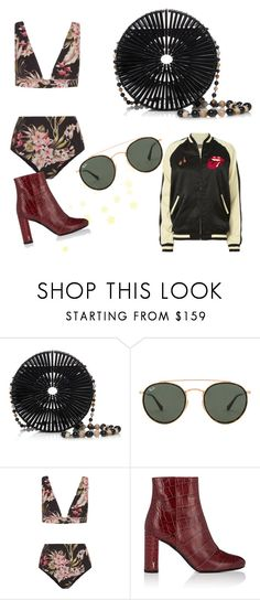 """""""running out of titles XD"""" by soundlessfob ❤ liked on Polyvore featuring Cult Gaia, Ray-Ban, Zimmermann, Yves Saint Laurent and MadeWorn"""