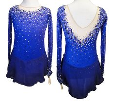 Purple Ombre figure skating dress by Sk8 Gr8 Designs. Learn more at http://sk8gr8designs.com