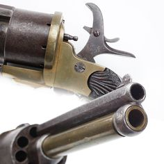 LeMat Revolver- a small bronze-framed pinfire revolver with Belgian proof marks that follows the LeMat pattern. Unmarked beyond the proof marks, this eight-shot handgun has a cylinder chambered for 9mm pinfire cartridges. The secondary barrel stands ready to fire a .44 caliber centerfire cartridge. While it doesn't hold the same historical connection to the War Between the States, this upgraded LeMat, if produced in greater numbers, might have been an interesting sidearm for the South.