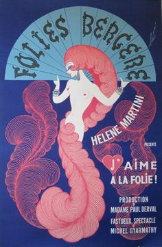 Erté, Brought home this poster from the Folies Bergere. Mine has deeper colors