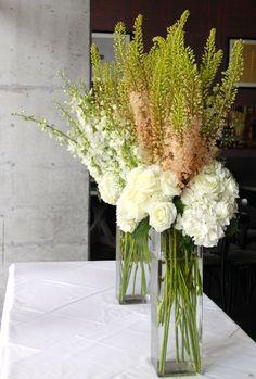 orchid centerpiece   White Hydrangea Centerpieces