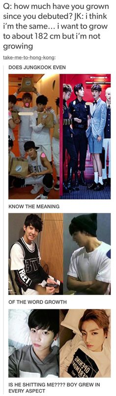 Puberty hit Jungkook like a truck