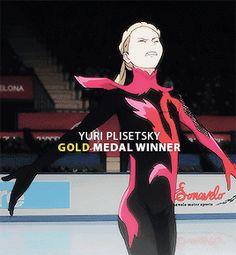 """Yuri!!! on Ice #12 || Yuri Plisetsky Gold Medal Winner """
