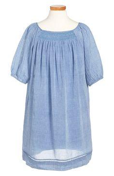 Ralph Lauren Gauzy Cotton Dress (Toddler, Girls, Little Girls & Big Girls) available at #Nordstrom