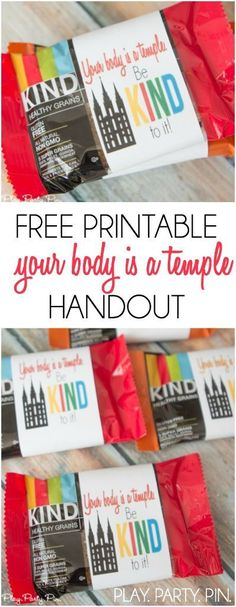 Love this free printable your body is a temple handout idea from playpartypin.com