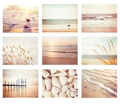Beach Photo Set 9 11x14 8x10 5x7 Photographs by CarolynCochrane, $108.00