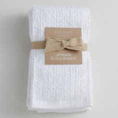 One of my favorite discoveries at WorldMarket.com: White Bar Mop Towels, Set of 4
