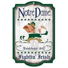 Notre Dame Fighting Irish Sign