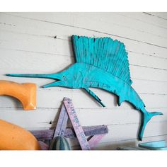 Sailfish Beach Decor Wood Sign Sail Fish Ocean Wood Sign Deep Sea Fishing Soild Color