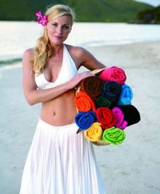 """Turkish signature mid-weight colored beach towels. Size 30""""x60""""."""
