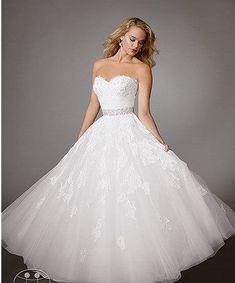 Love this one!!! It's called a fairy tail or princess wedding dress... Learned that from #sayyestotyedress... LOVE IT