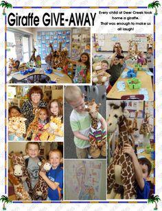 everyone got a giraffe Giraffe, Deer, Kindergarten, Baseball Cards, Children, Fun, Young Children, Felt Giraffe, Boys