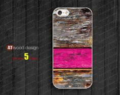 colorized pink wood texture unique iphone 5 cover  by Atwoodting, $6.99