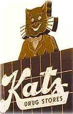 remember a Katz store, in Springfield, Missouri, when I visited Grandma as a child. I was fascinated by the cat sign. Old Neon Signs, Vintage Neon Signs, Springfield Missouri, Kansas City Missouri, Cat Signs, St Louis Mo, Roadside Attractions, Crazy Cats, History