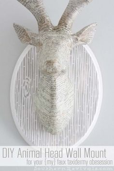 DIY Animal Head Wall Mount | Mod Podge Stencil Review - Southern Revivals