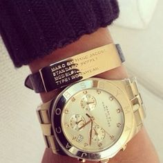 Marc Jacobs watch and bracelet