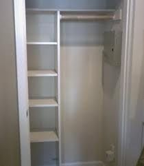 Why not build shelves in half the closet and put up a rod in the other half?