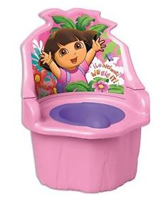Great for home or travel!!  On-the floor potty training seat from 18 months to 4 years. Detachable potty seat fits on regular and elongated adult toilet seats. Base of the floor potty seat is flipped over to become a step stool.