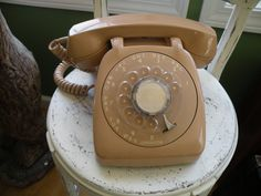 Vintage Rotary Telephone,Brown, , phone,Retro, Automatic Northlake Electric by Traincasesandmore on Etsy