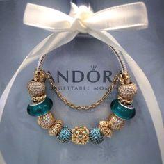 Pandora Jewelry OFF! Pandora Gold, Pandora Beads, Pandora Bracelet Charms, Pandora Rings, Pandora Jewelry, Charm Jewelry, Charm Bracelets, Wrap Bracelets, Bracelet Designs