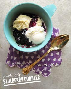 Single Lady Blueberry Cobbler // take a megabite