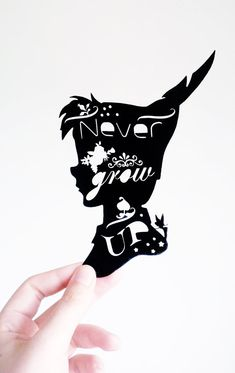 Peter Pan Original Black PaperCut Art by HOWHandmade on Etsy, £15.00