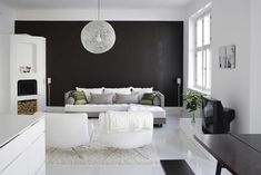 Black and White Home Decor . 24 New Black and White Home Decor . Elegant Black and White Interior Design with fortable atmosphere Black Interior Design, Black And White Interior, Interior Design Inspiration, Interior Design Living Room, Black White, Design Ideas, Interior Ideas, White Light, Solid Black