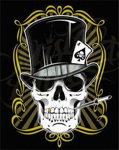 cool pics of skulls | Cool Skull Tattoos Especially Skull Gambler Tattoo Designs Gallery ...