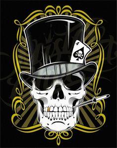 cool pics of skulls | Cool Skull Tattoos Especially Skull Gambler Tattoo Designs Gallery ...