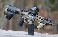 Multicam AR Pistol