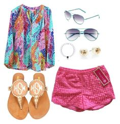 """""""Summer style contest!"""" by miss-southern-girl ❤ liked on Polyvore featuring Lilly Pulitzer, Tory Burch, summerstylecontest, emilyprep and emilychurch"""