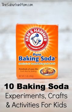 10 Baking Soda Experiments, Crafts And Activities For Kids ~ $100 Giveaway