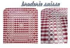 Anastasia mercerie ingrosso - Settimo Torinese: Curiosità RICAMO Broderie Suisse Chicken Scratch Embroidery, Gingham Fabric, Household Items, Anastasia, Crochet Patterns, Buffalo Check, Towels, Spanish, Hand Embroidery