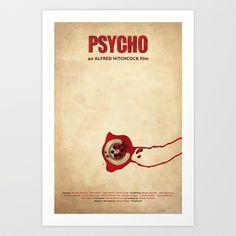 Psycho Art Print by Oscar Delmar - $18.00