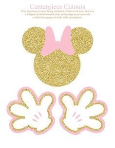 Mouse Birthday Party Printable Package, Printable Minnie Mouse Decorations, Pink and Gold, Personalized Minnie Mouse Birthday Party Printable Package Printable Minnie Mouse Birthday Decorations, Minnie Mouse Theme Party, Minnie Mouse First Birthday, Minnie Mouse Baby Shower, Minnie Mouse Pink, Mouse Parties, Minnie Mouse Favors, Pink Und Gold, Gold Party
