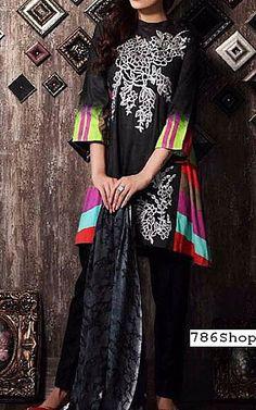 Black Staple Jacquard Suit   Buy Charizma Pakistani Dresses and Clothing online in USA, UK