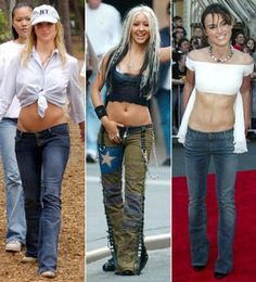 Hipster jeans - Trends of the Decade - Marie Claire. At right, Keira Knightley in 2003