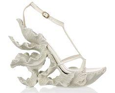 Drooooling.......© Sarah Burton for Alexander McQueen - sculpted wedding wedges