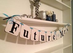 Future Mrs Banner Bridal Shower Decoration by ClassicBanners, $18.00