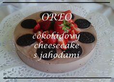 OREO čokoládový fitness cheesecake s jahodami. Low carb, high protein dessert!