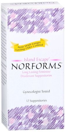 Norforms Suppositories Island Escape 12 Each [041608005226]