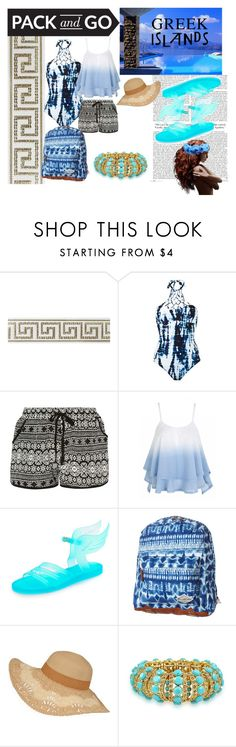 """""""Untitled #8"""" by garnet10leo ❤ liked on Polyvore featuring Blue Man, Ancient Greek Sandals, Billabong, Bling Jewelry, Packandgo and greekislands"""