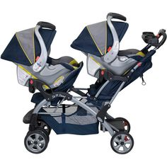Baby Trend - Sit N Stand Double Stroller, Riviera (fits other brand car seats)