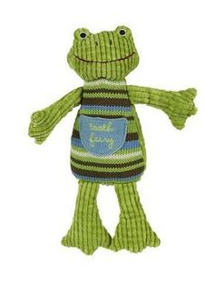 """Boy Frog 9"""" Tooth Fairy pillow"""