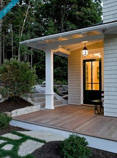 love this porch ....from porches & patios..Porch on waterfront Maine cottage