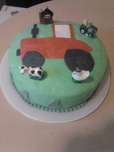 Tractor taart Stef zn 4e verjaardag