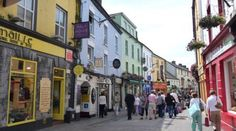 shop street, galway!     great place to shop & watch the people!