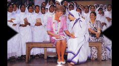 Diana, Princess of Wales visits Mother Teresa'a Hospice in Calcutta 15 f...