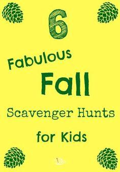 scavenger hunts fall
